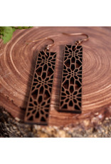 WOODEN LASER CUT EARRING - MISSION DISTRICT