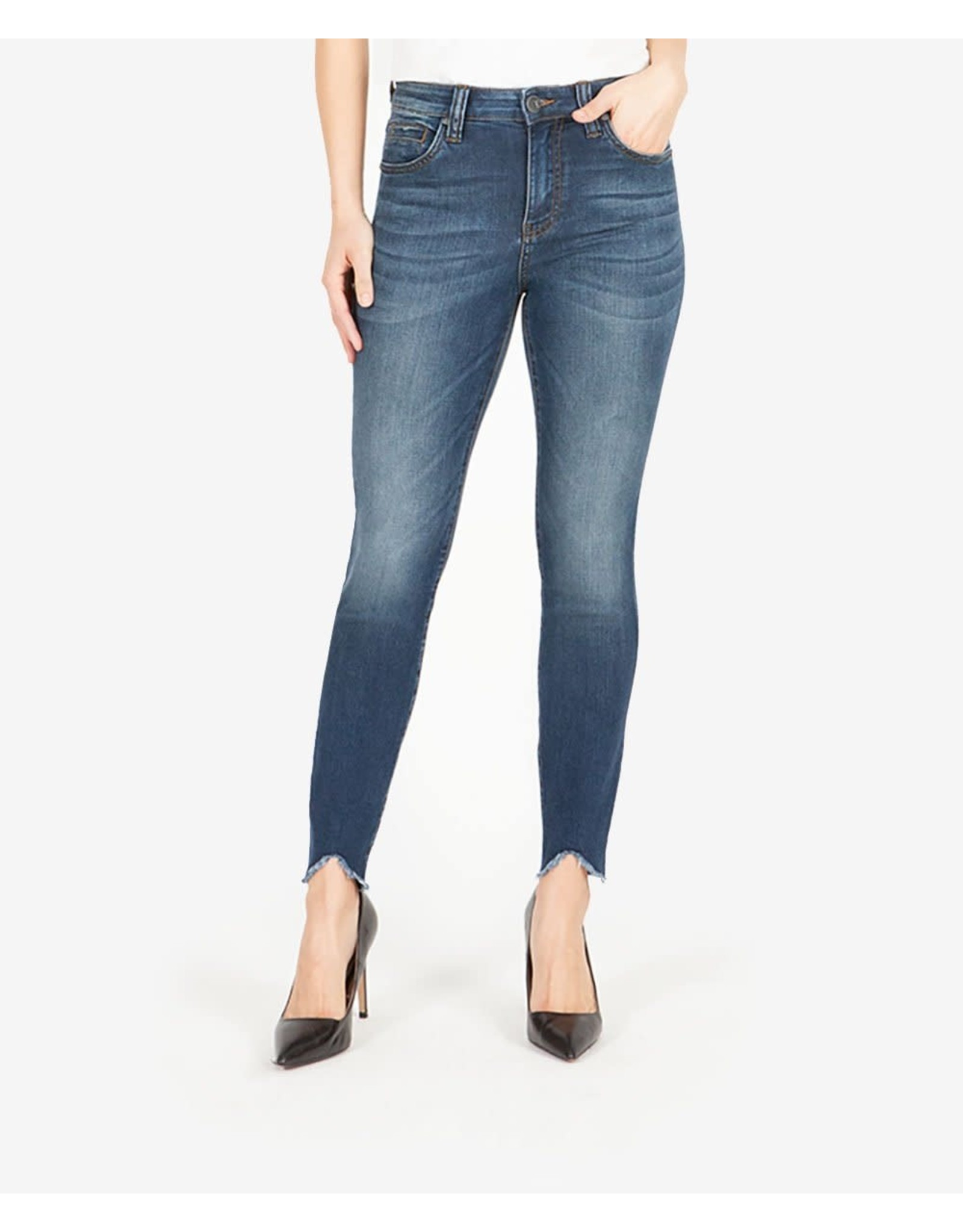 CONNIE SLIM HIGH RISE ANKLE SKINNY - BEHAVE WASH -