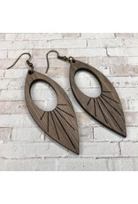 WOODEN LASER CUT EARRING - ARCADIA