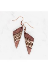 WOODEN LASER CUT EARRING - MANOA MINI
