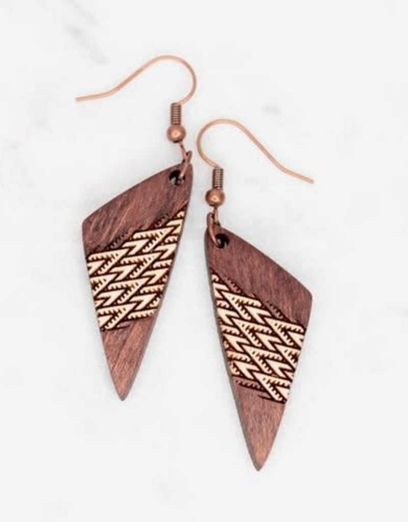 3D GRACE WOODEN LASER CUT EARRING - MANOA MINI - Sitting Pretty ...