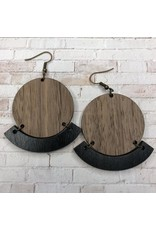WOODEN LASER CUT EARRING - ANSLEY PARK BLACK