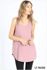 LIGHT ROSE BASIC SOLID COLOR SLEEVELESS TANK