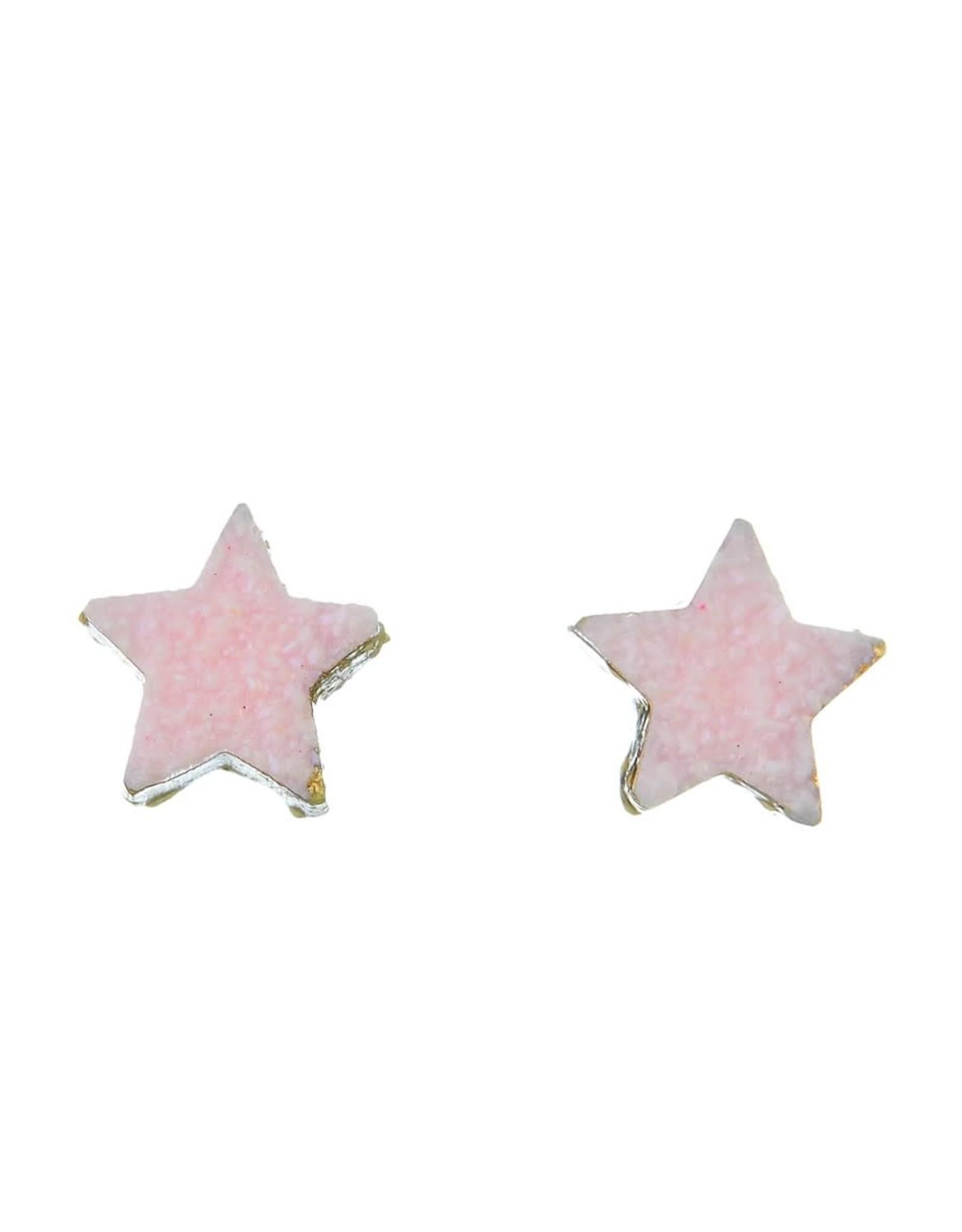 PINK DAINTY STAR POST EARRING