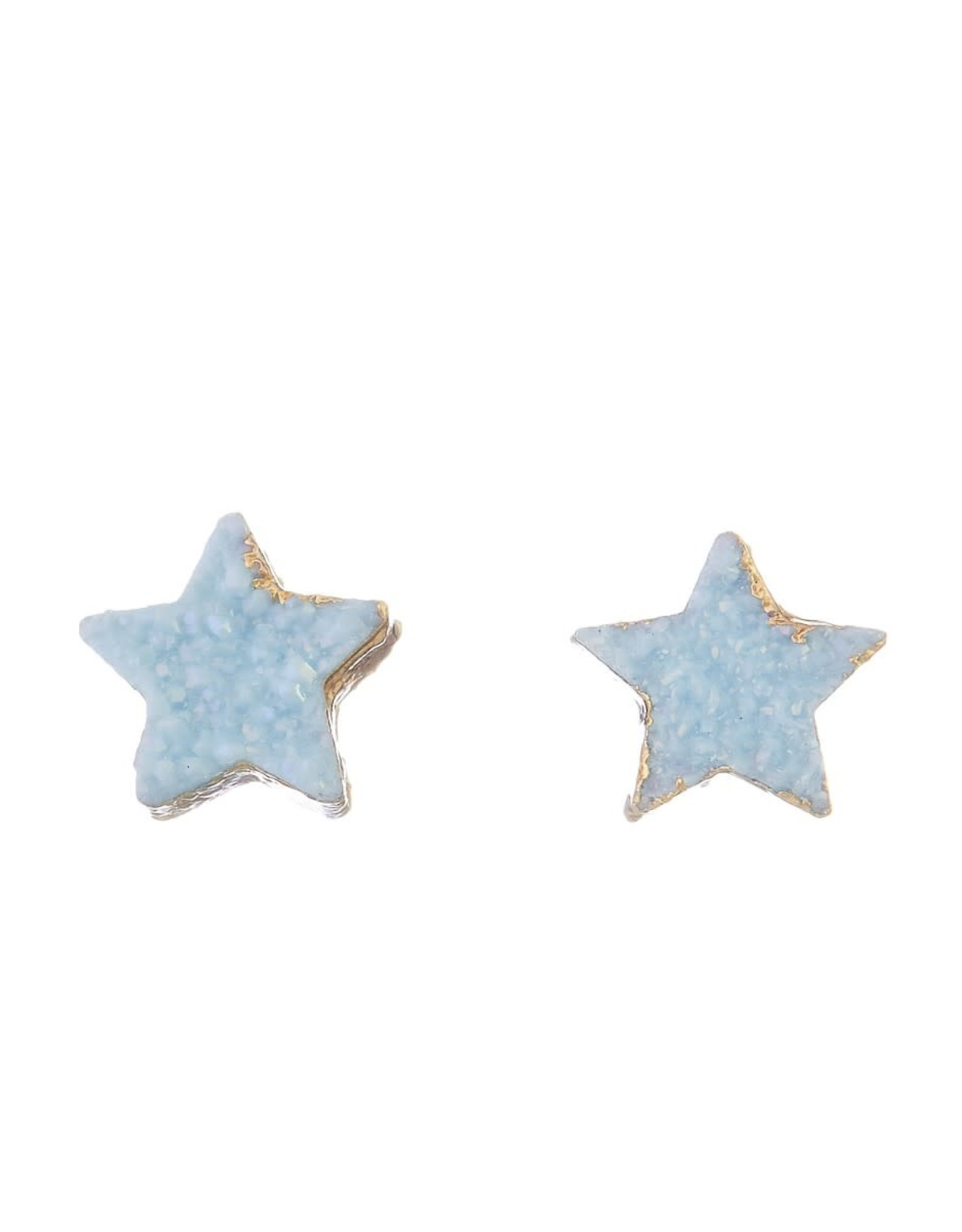 BLUE DAINTY STAR POST EARRING