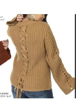 BELL SLEEVE CABLE KNIT SWEATER