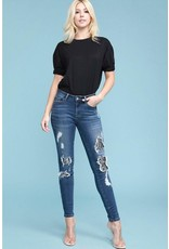 SNAKE PYTHON PATCH DESTRUCTED SKINNY JEAN
