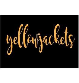 BLACK / GOLD YELLOWJACKET FOOTBALL JERSEY