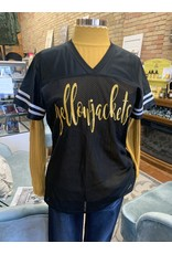 BLACK / GOLD YELLOWJACKET FOOTBALL JERSEY