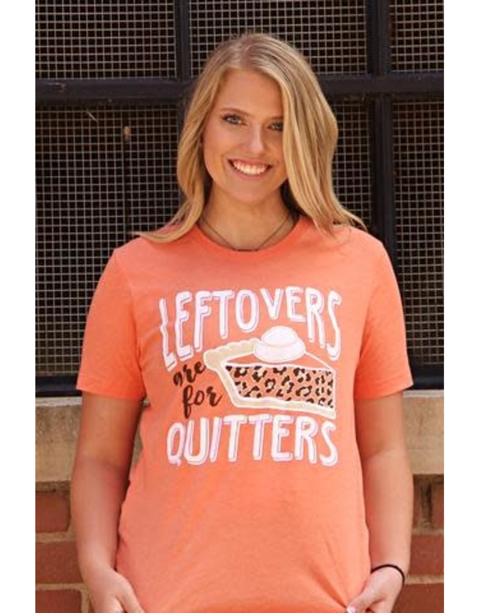 ORANGE LEFTOVERS ARE FOR QUITTERS T-SHIRT