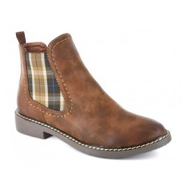 BROWN BROOM W/ PLAID BOOT
