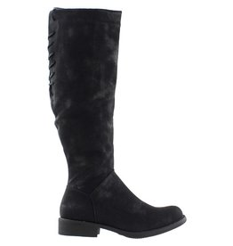 BLACK VENTURA DISTRESSED TALL BOOT