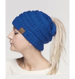 CC PONYTAIL BEANIE SOLID COLORS