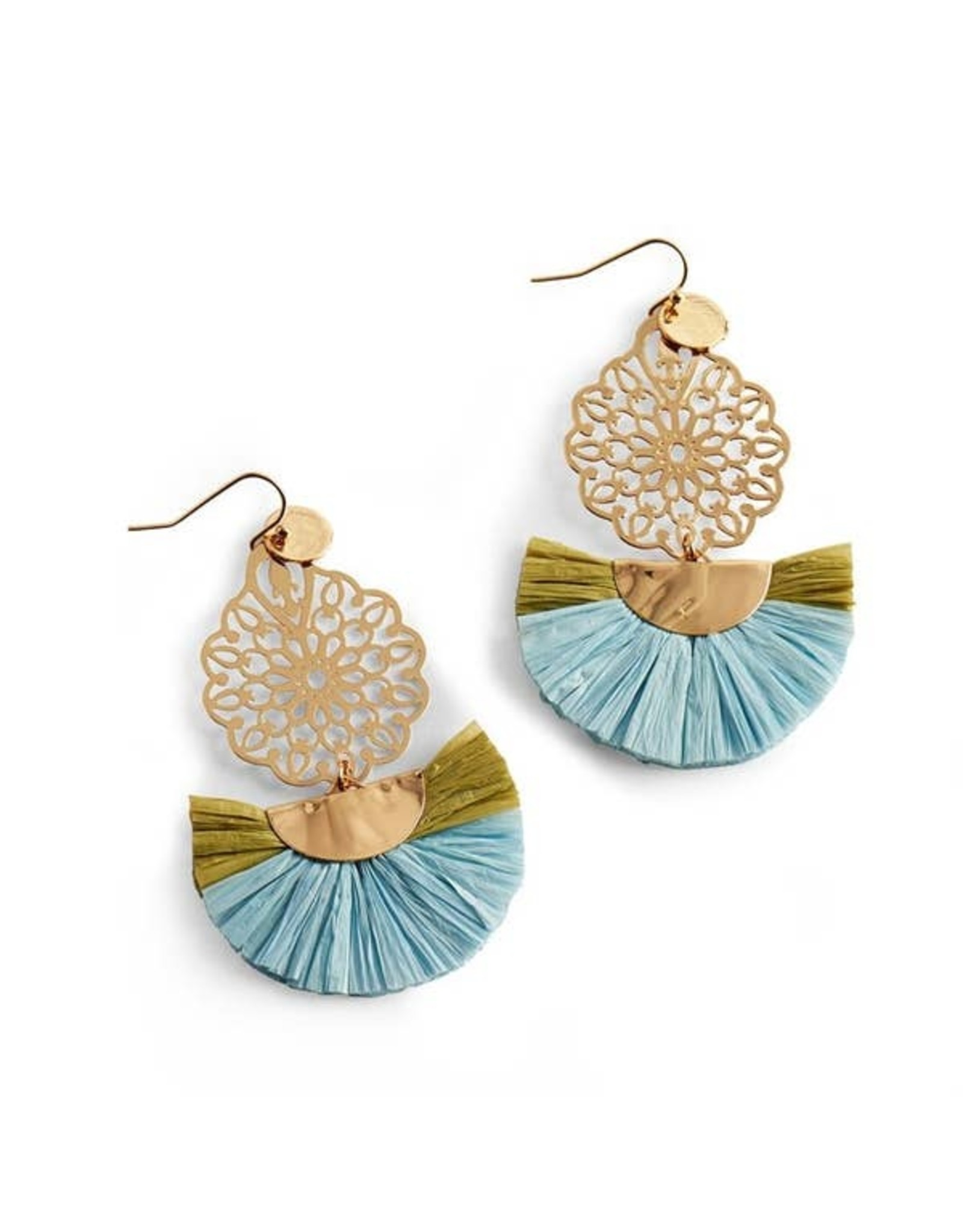 AMITY FILIGREE EARRINGS AQUA