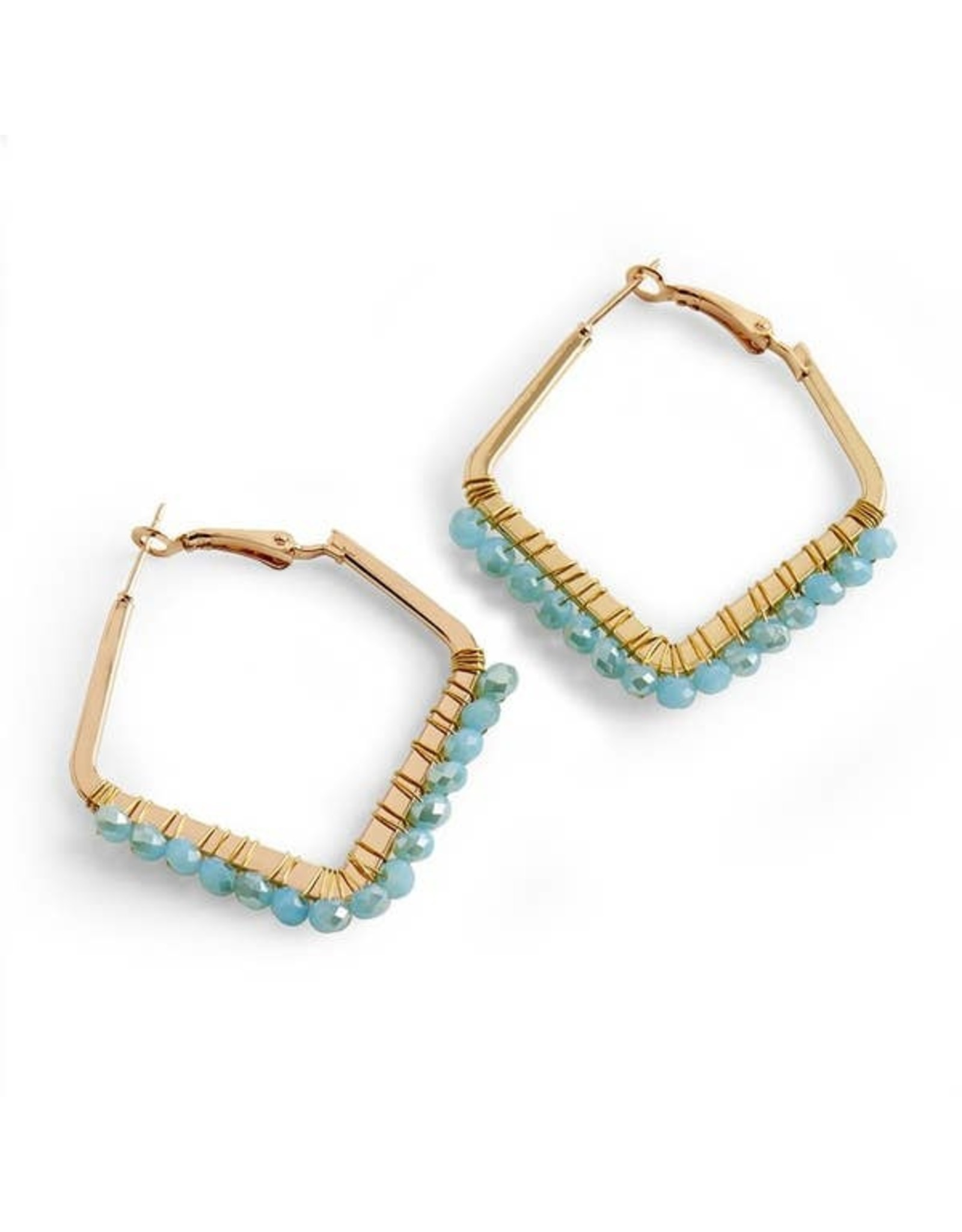 LAZIO EARRINGS GOLD TURQUOISE