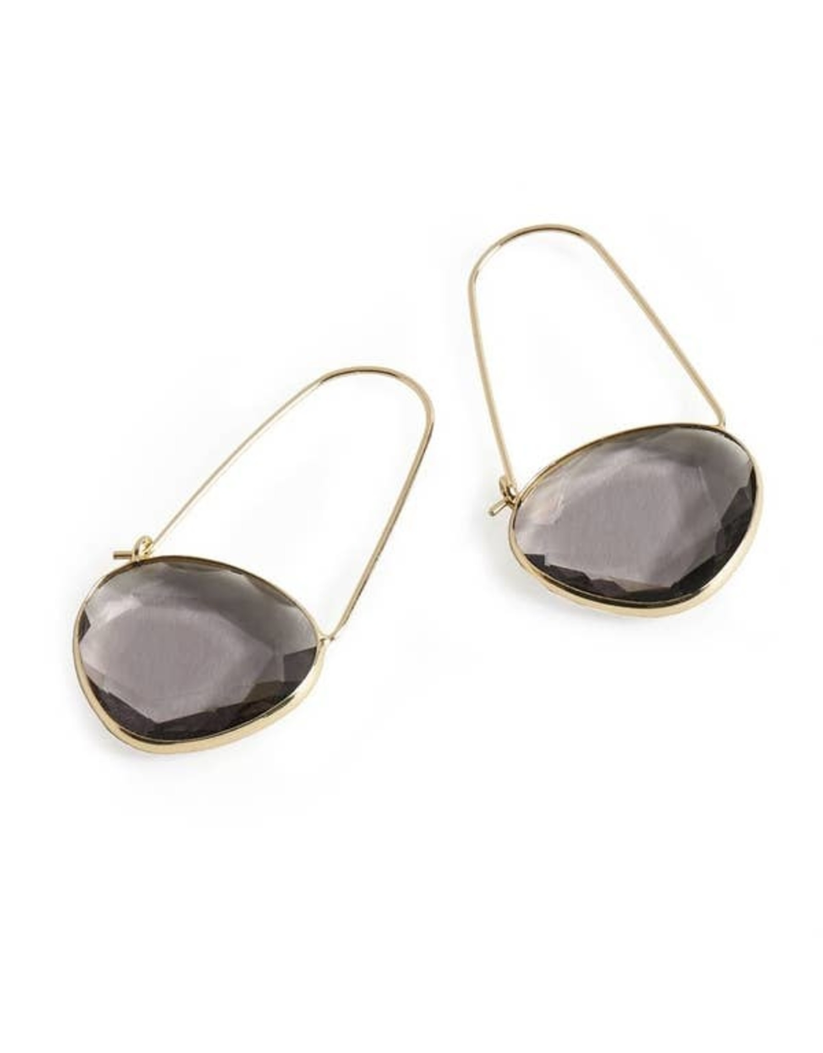 NEW MOON EARRINGS SMOKEY TAUPE