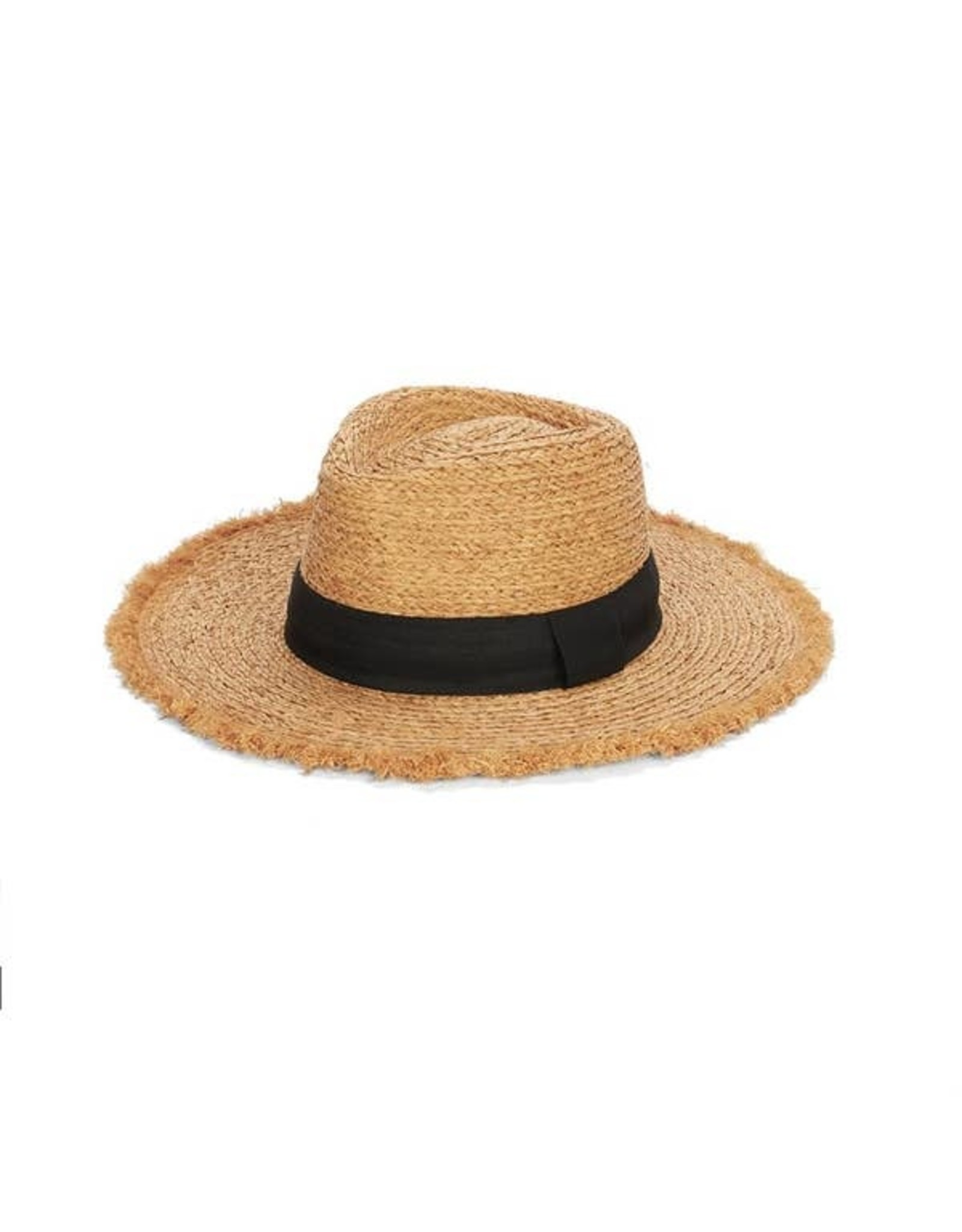 PACKABLE RAFFIA FRINGE BRIM RANCH HAT