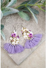 LAVENDER SPRING FLORAL EARRINGS