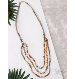 BROWN SNAKE MIX DRESSED TO IMPRESS LAYERED NECKLACE
