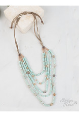 MINT DRESSED TO IMPRESS LAYERED NECKLACE
