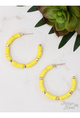 LEMON ALL SUMMER LONG BEADED HOOP EARRING