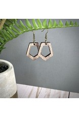 WOODEN LASER CUT EARRING - NORA