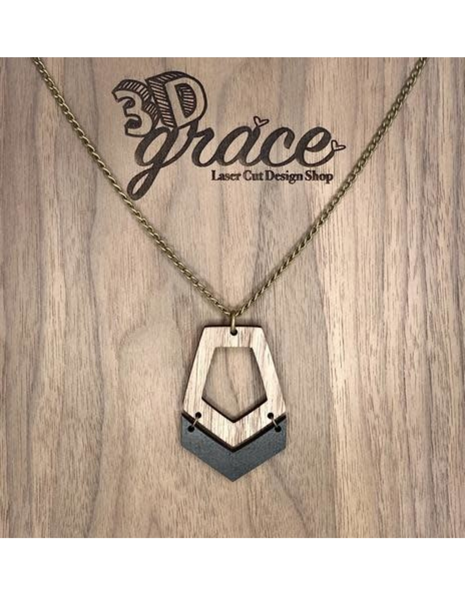 WOODEN LASER CUT NECKLACE - NORA