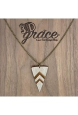 WOODEN LASER CUT NECKLACE - OLD NORTH END