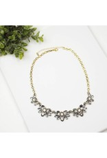 CRYSTAL STATEMENT NECKLACE GRACE GOLD