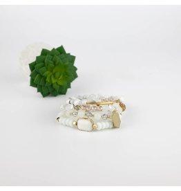 BOHO BRACELET WHITE GOLD HARLOW
