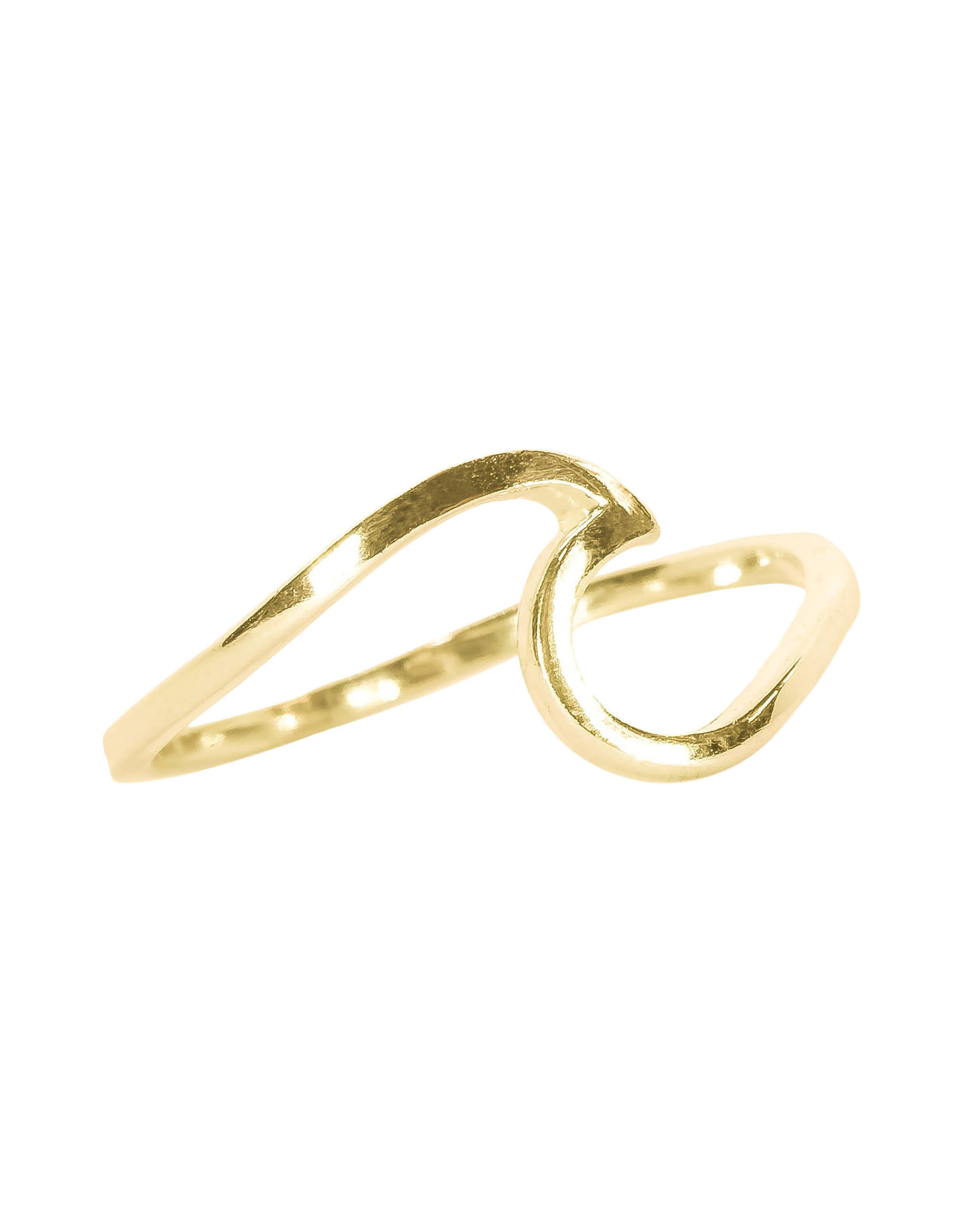 PURA VIDA WAVE RING GOLD