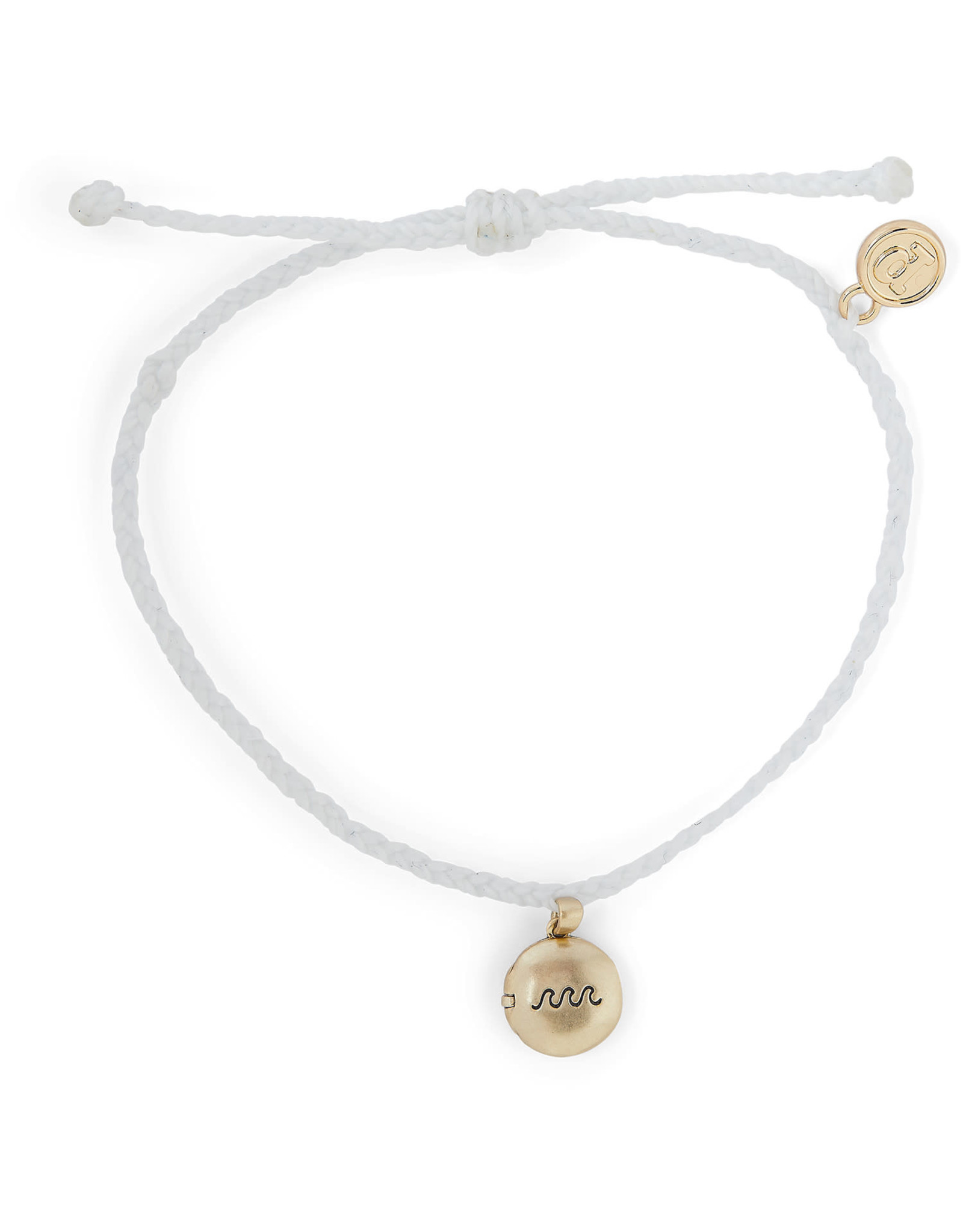 PURA VIDA BRACELET WAVE LOCKET GOLD WHITE