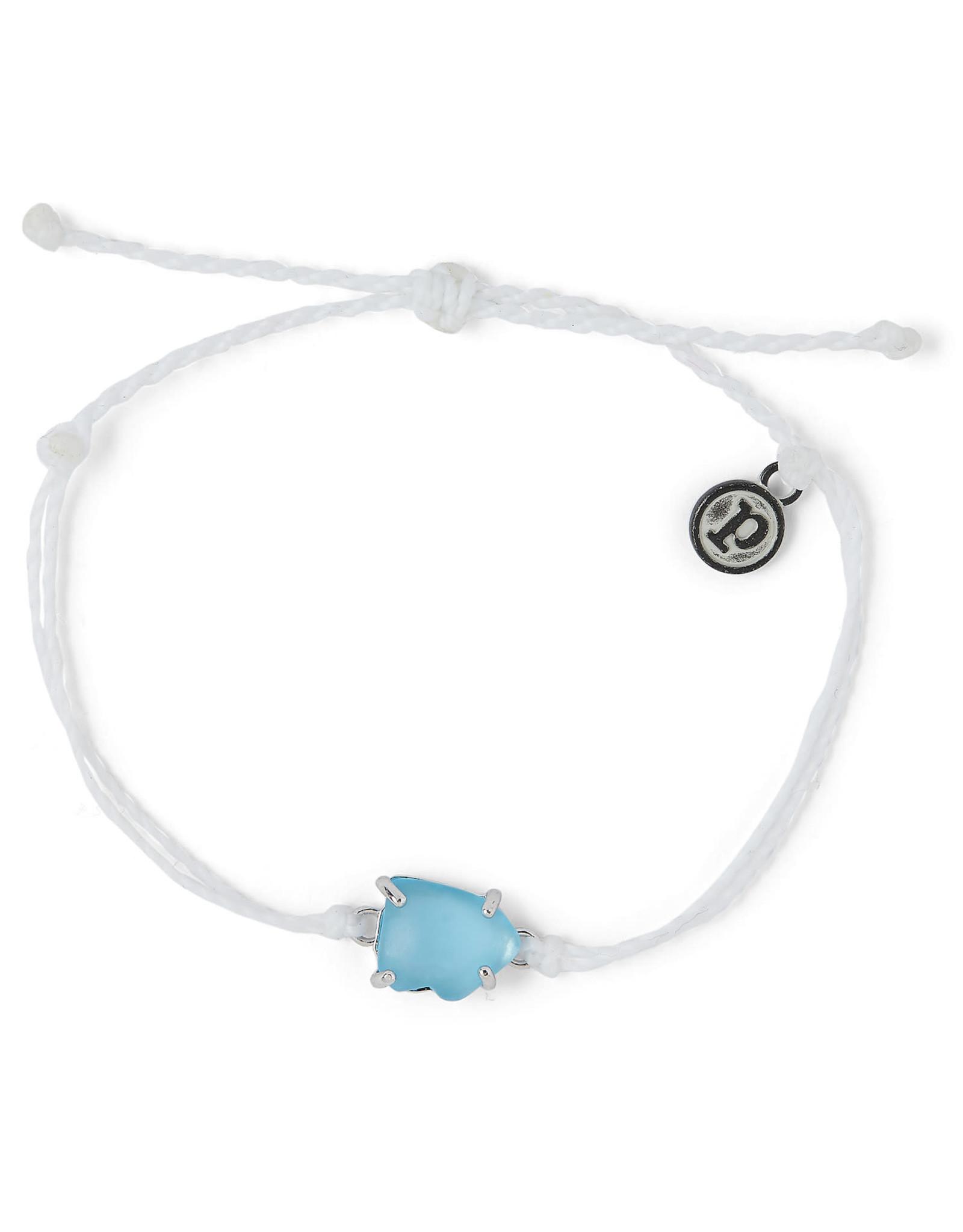 PURA VIDA BRACELET BLUE SEAGLASS WHITE