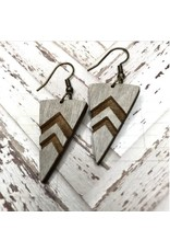 WOODEN LASER CUT EARRING - OLD NORTH END