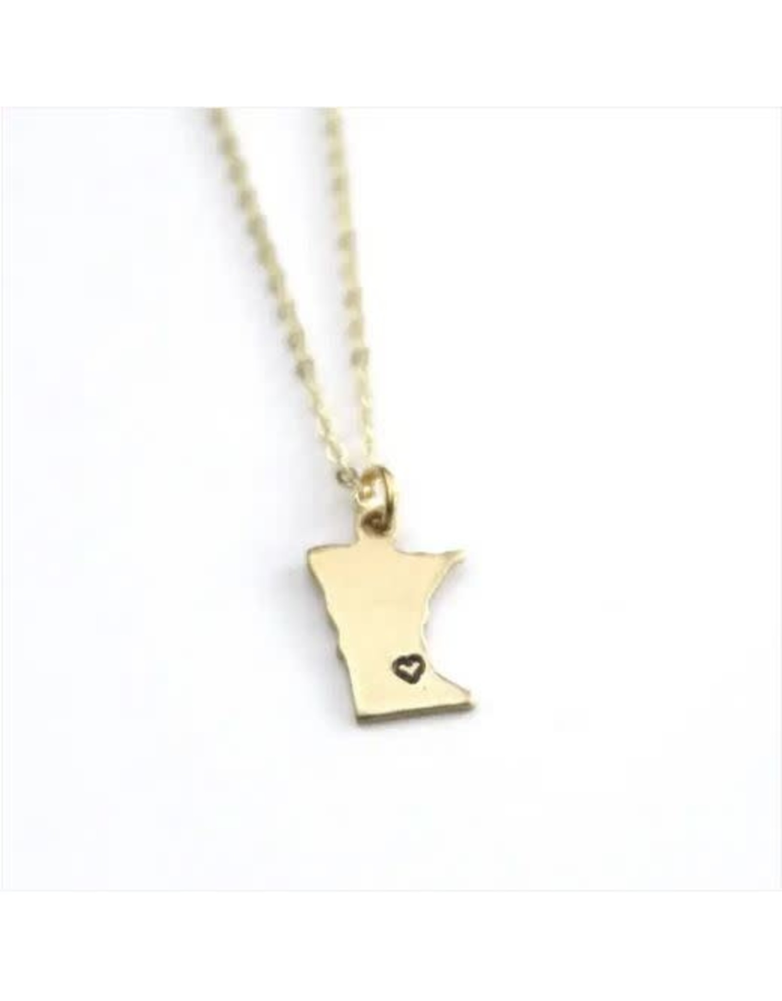 MINNESOTA GOLD HEART NECKLACE