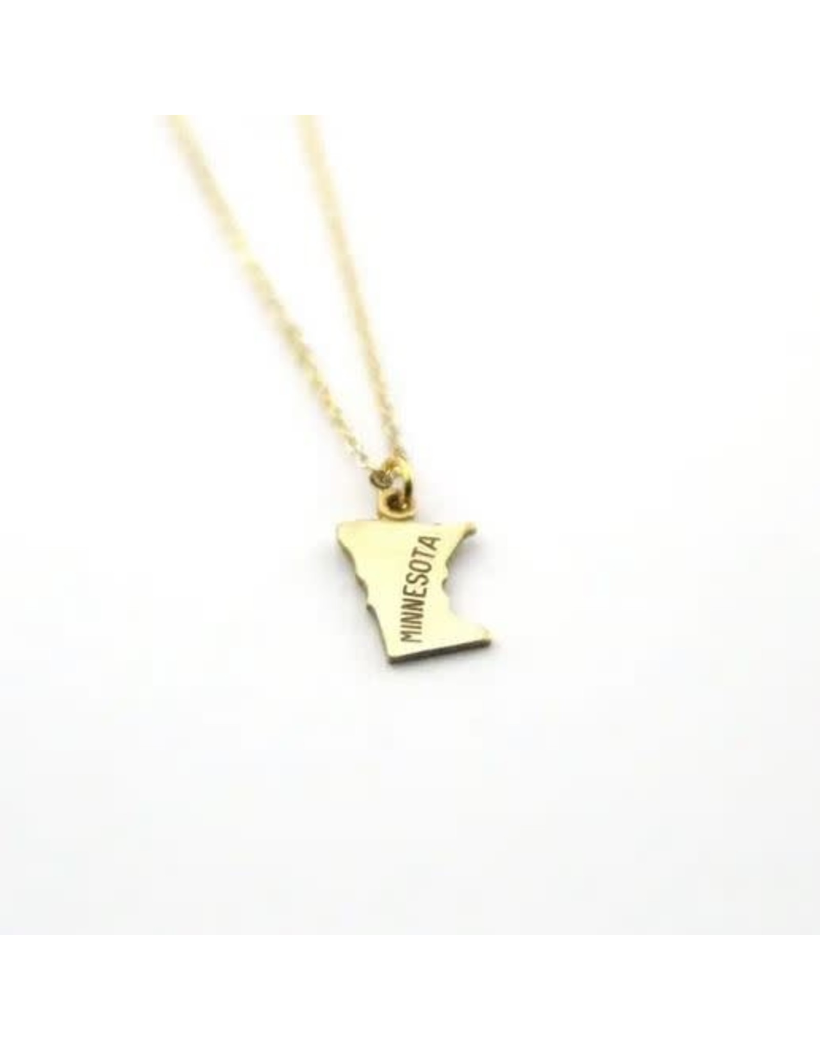 MINNESOTA GOLD STATE NAME NECKLACE