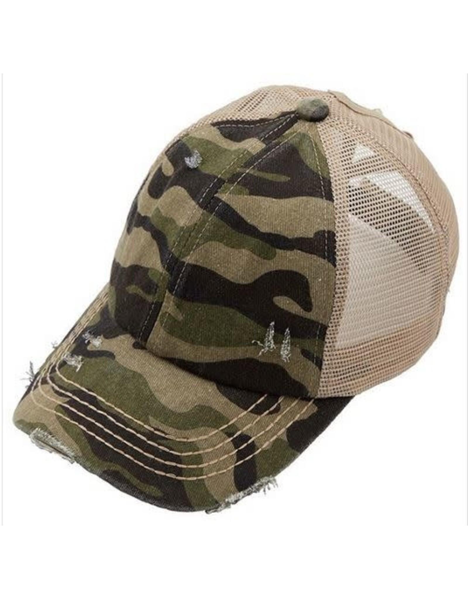 CC CAMO PONY CAP