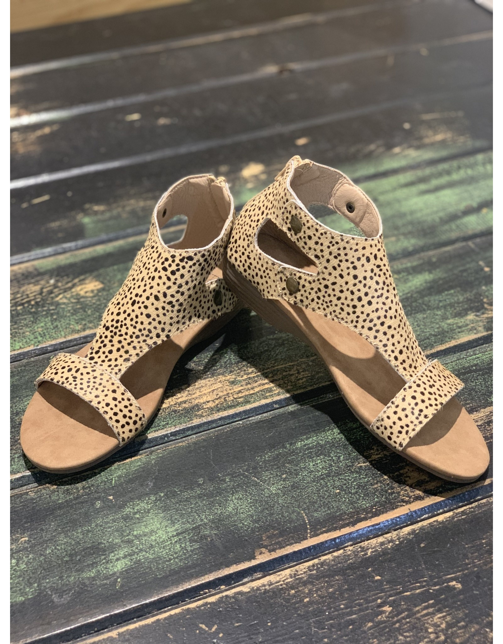 BROWN SPECKLED LEOPARD JAYDE SANDAL
