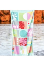 JADELYNN BROOKE PINEAPPLES AND PALM LEAVES BEACH TOWEL