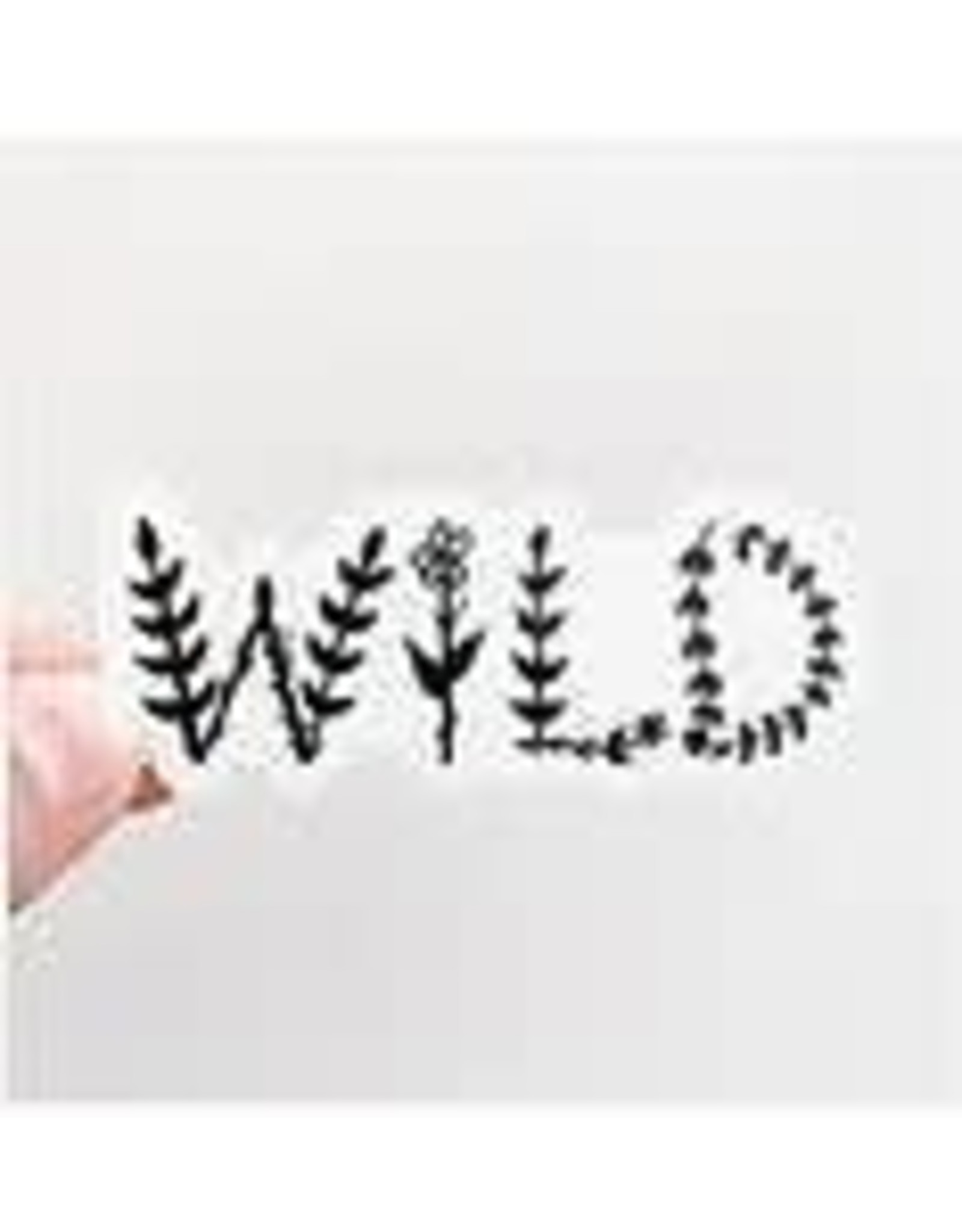 WILDFLOWER PAPER COMPANY WILD FLORAL LETTERS BLACK STICKER