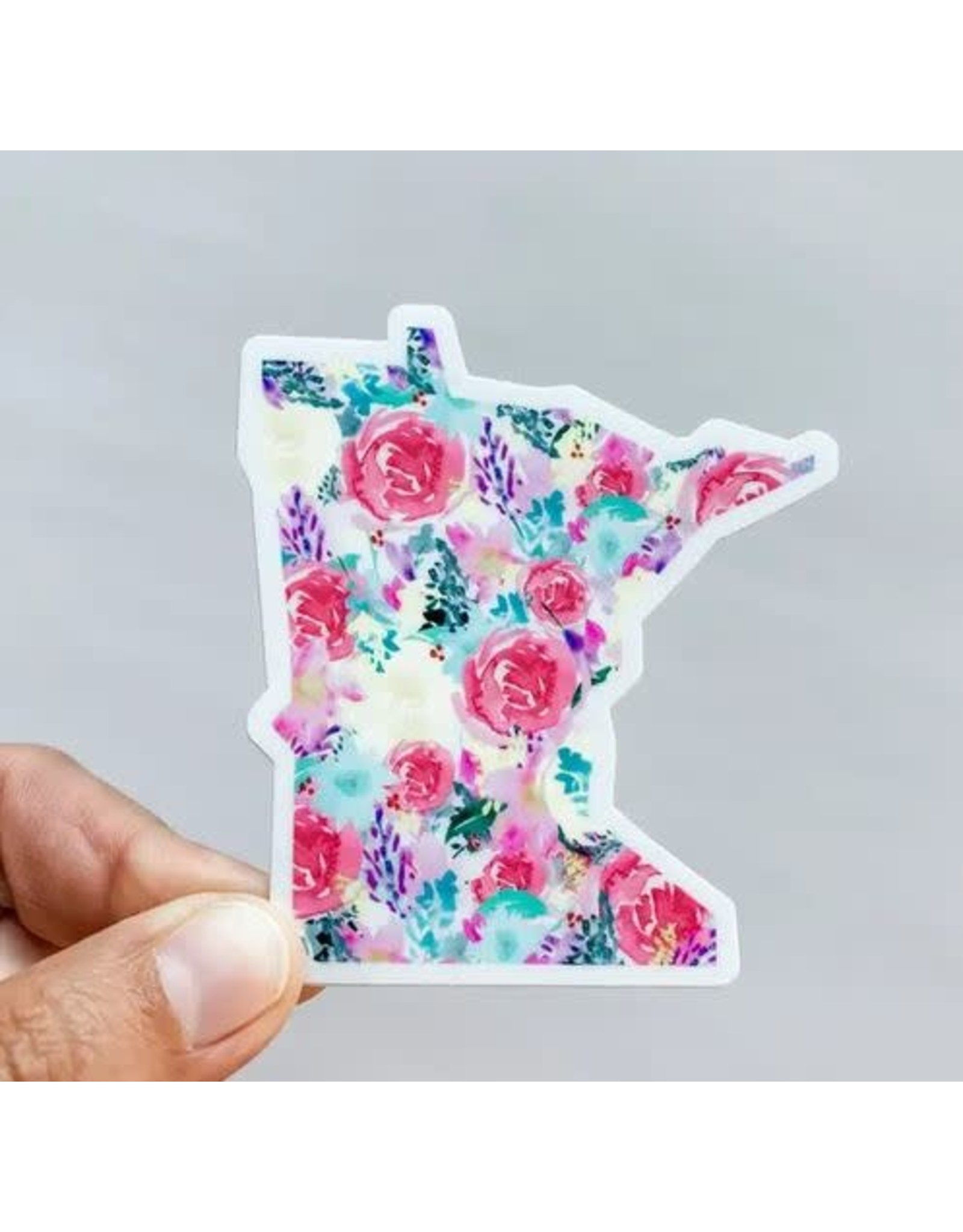 WILDFLOWER PAPER COMPANY MINNESOTA BRIGHT FLORAL STATE STICKER