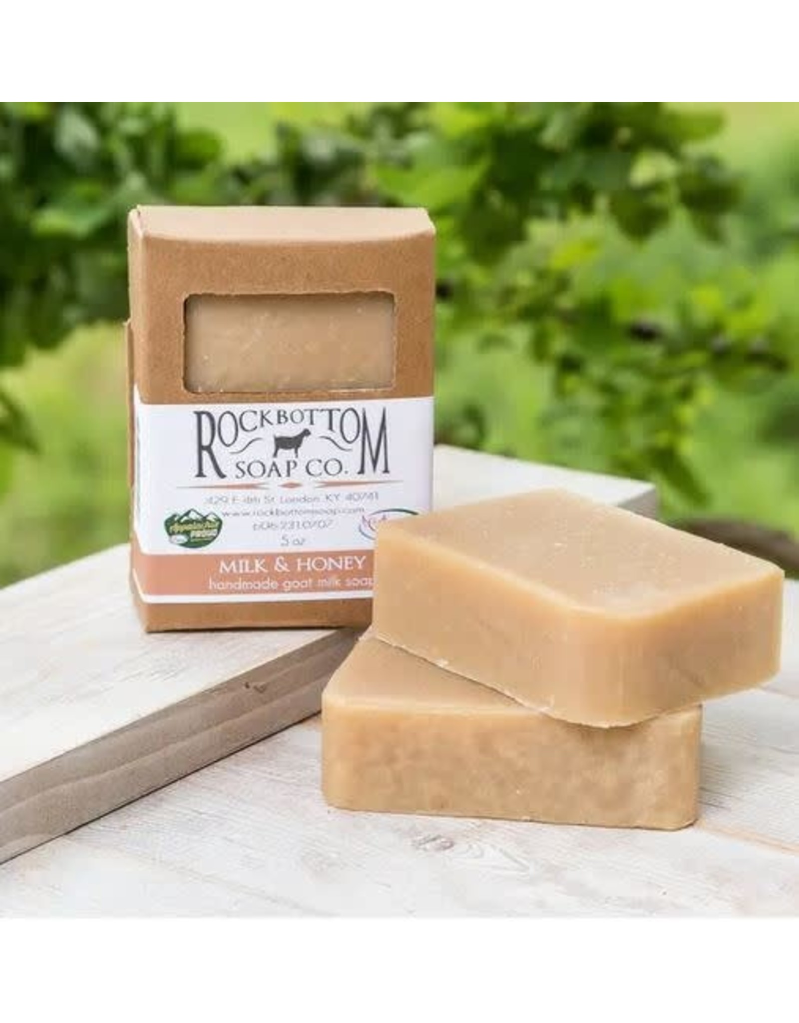 ROCK BOTTOM SOAP CO ROCK BOTTOM GOAT MILK BAR SOAP
