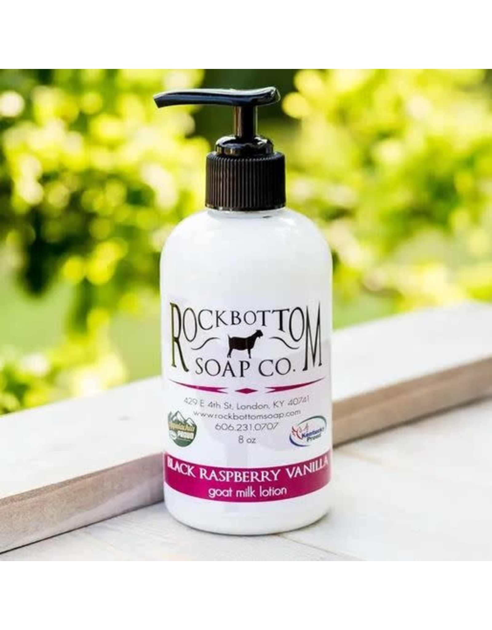 ROCK BOTTOM SOAP CO ROCK BOTTOM GOAT MILK LOTION 8OZ