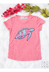 CORAL BEACH TURTLE PATCH TEE