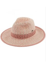 CC ROSE TRIPLE HEATHER PANAMA HAT