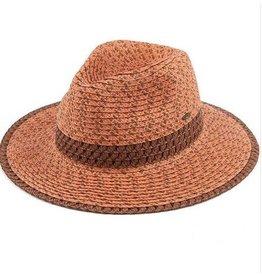 CC RUST TRIPLE HEATHER PANAMA HAT