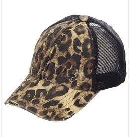 CC LEOPARD PONY CAP