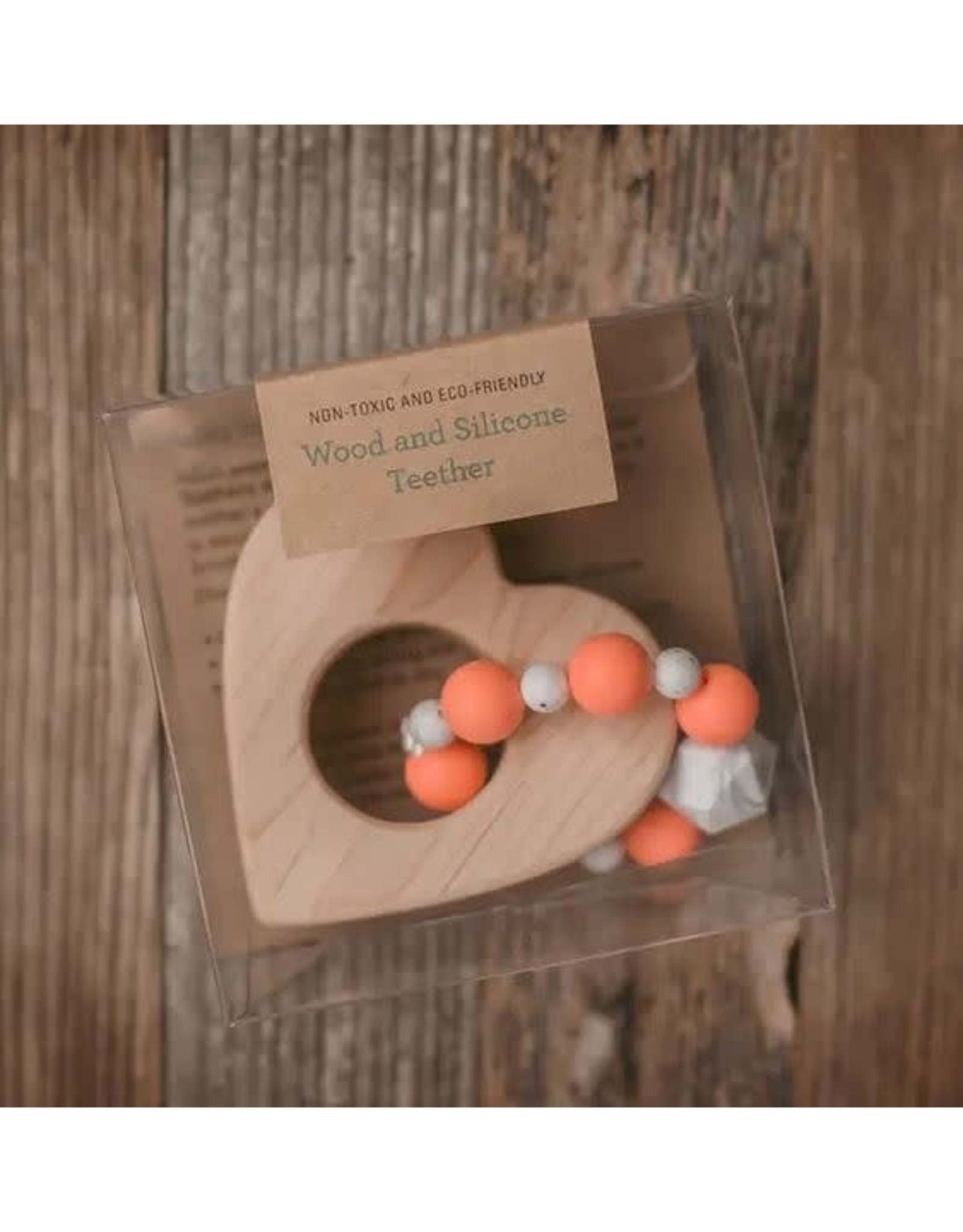 SWEETPEA AND CO WOOD AND OLVIE GREEN SILICONE MINNESOTA BEAD TEETHER