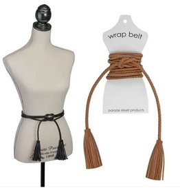 PARADE STREET PRODUCTS TASSEL LEATHER TIE BELT