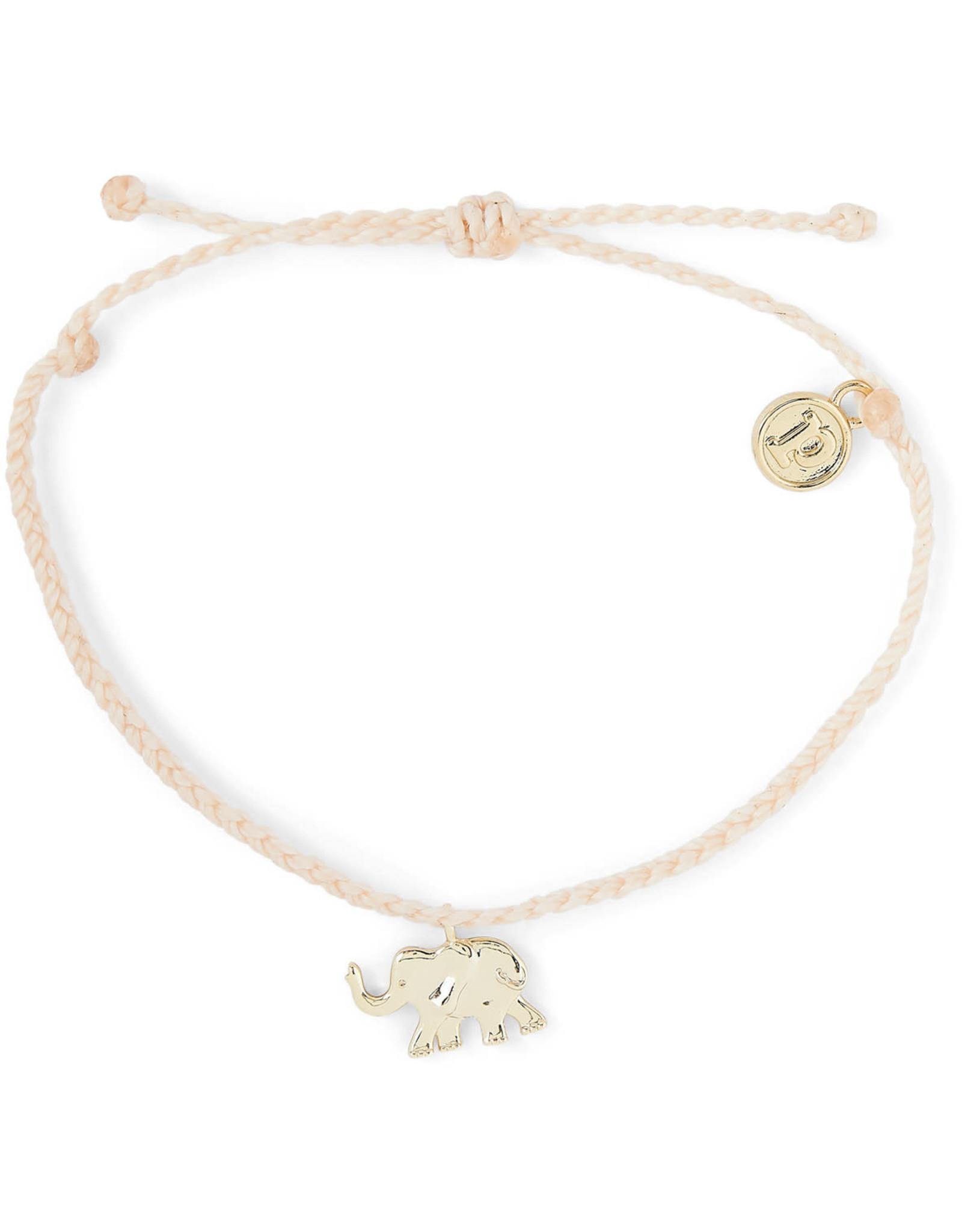 PURA VIDA BRACELET GOLD ELEPHANT VANILLA